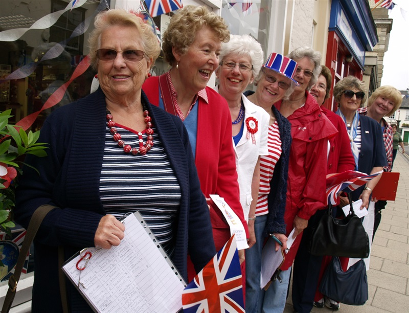 The Ladies Evening Group judging the Jubilee Celebration decorations