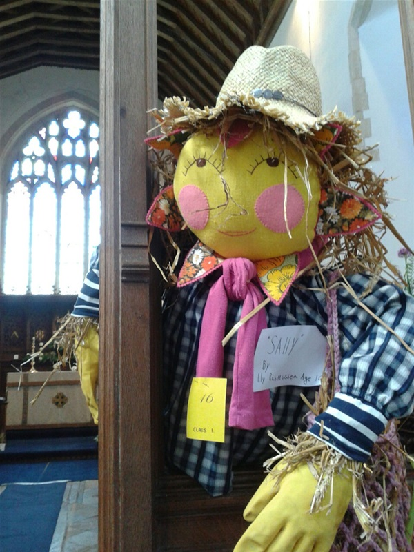 A Scarecrow at Redenhall Church