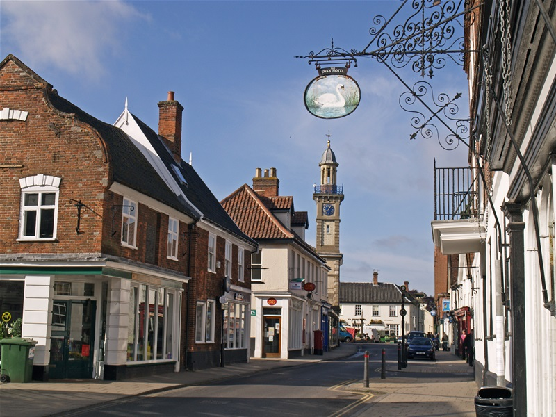 Harleston and its iconic clock tower